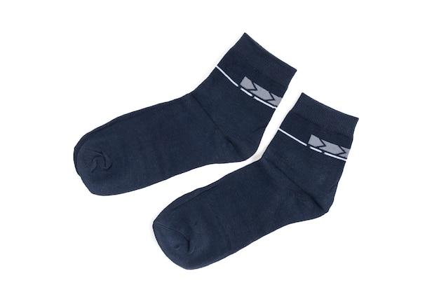 Мужские носки на белом фоне. хлопковые носки с рисунком.