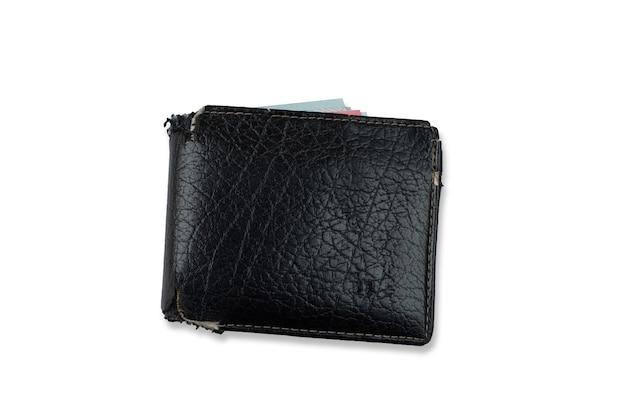 白い背景で隔離のメンズ財布