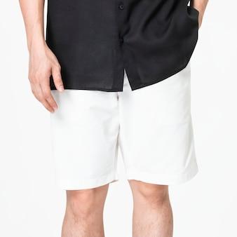 남성용 흰색 반바지 캐주얼 패션