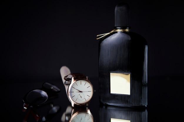メンズ腕時計と香水