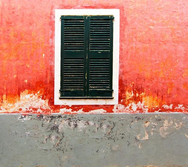Menorca ciutadella red grunge facade texture