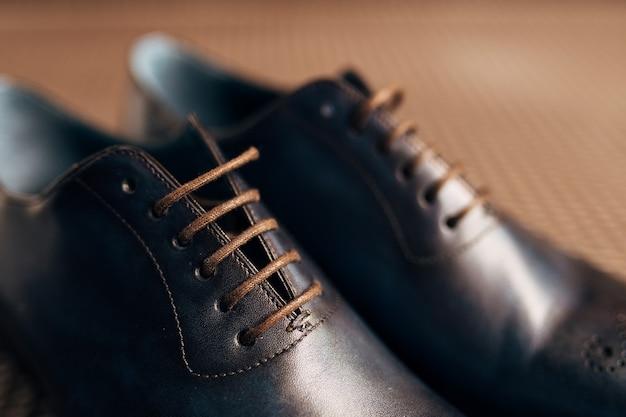 바닥에 망 검은 신발