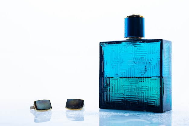 Mens cologne and cuff links