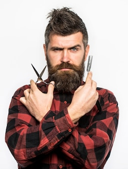 Мужская стрижка для бритья мужской в парикмахерской