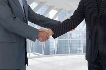 Mens shaking a handshake
