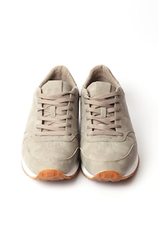 Mens sneakers isolated on white mens footwear