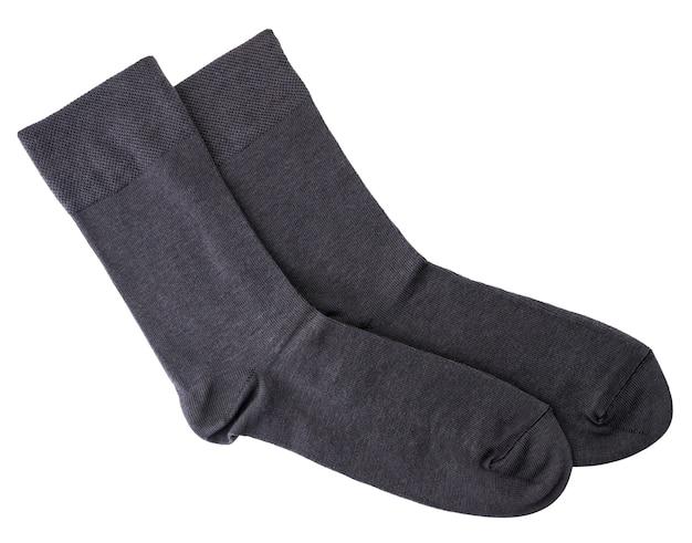 Мужские носки крупным планом на белом фоне. изолированные