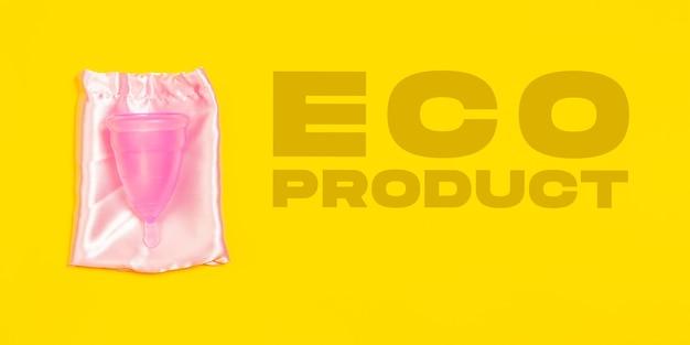 月経カップ。環境にやさしい生活-有機的に作られたリサイクル品は、ポリマー、プラスチック類似体に取って代わります。ホームスタイル、リサイクル用の天然物で、環境や健康に害はありません。