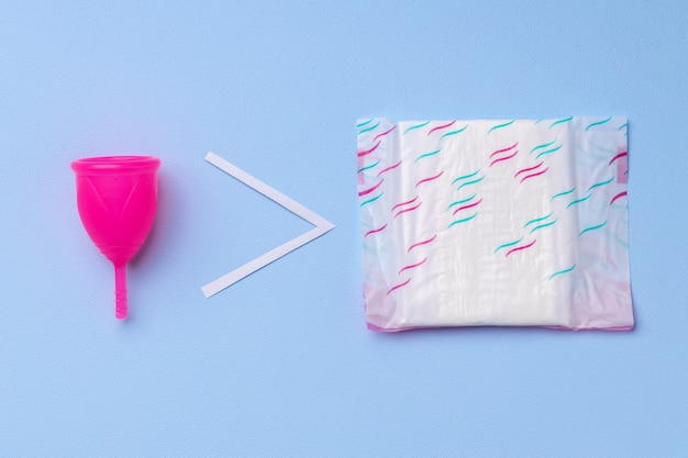 Menstrual cup and hygienic pad
