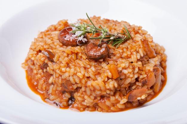 Menu rice food paella valencia