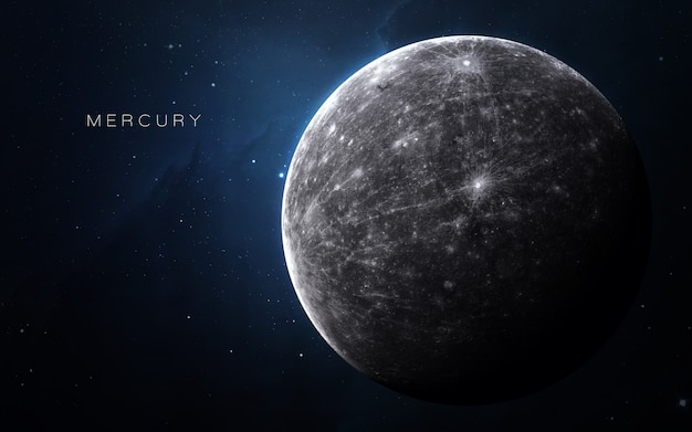 Mercury in the space, 3d illustration.