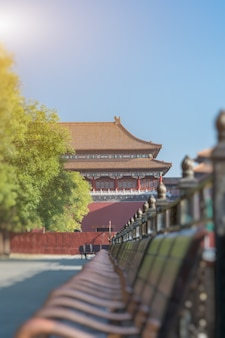 The meridian gate of the forbidden city