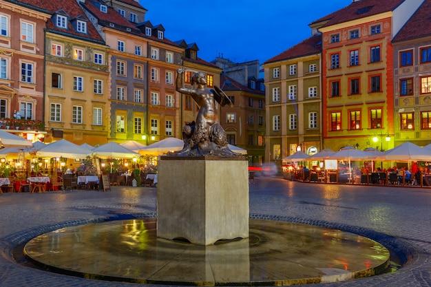 ポーランドのマーケット広場にあるワルシャワの人魚。