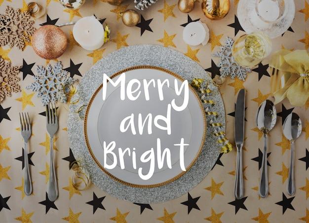 Celebrazione di auguri di buona stagione luminosa