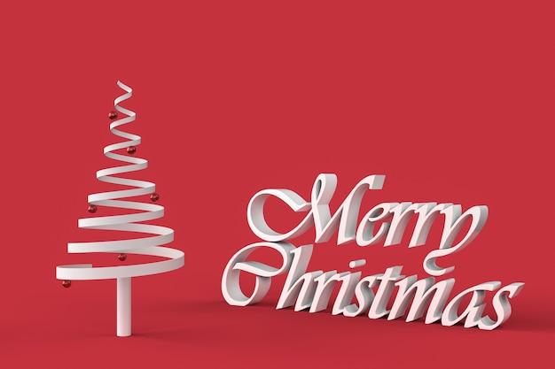 メリークリスマスと抽象的なクリスマスツリー