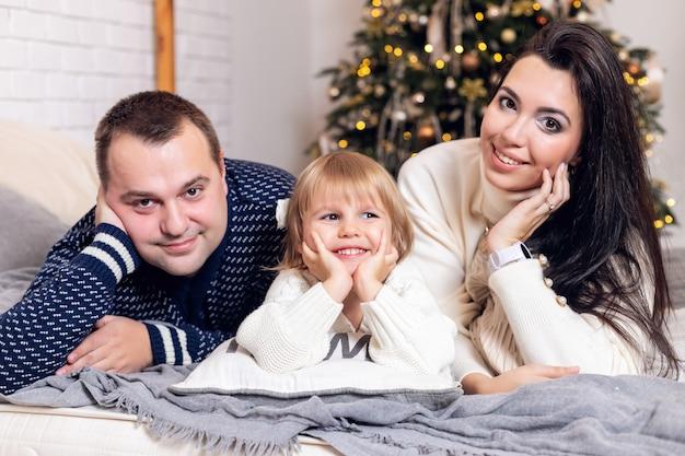 메리 크리스마스와 행복한 휴일 부모님