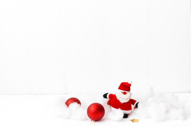 기쁜 성 탄과 새 해 복 많이 받으세요 카드 빨간 장식