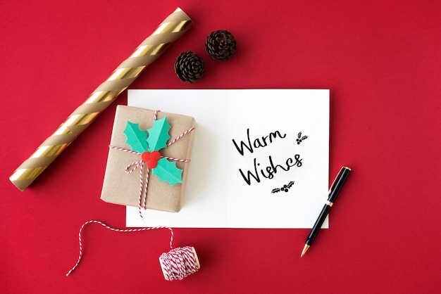 メリークリスマスと新年あけましておめでとうございます家族の休日の祭りのコンセプト