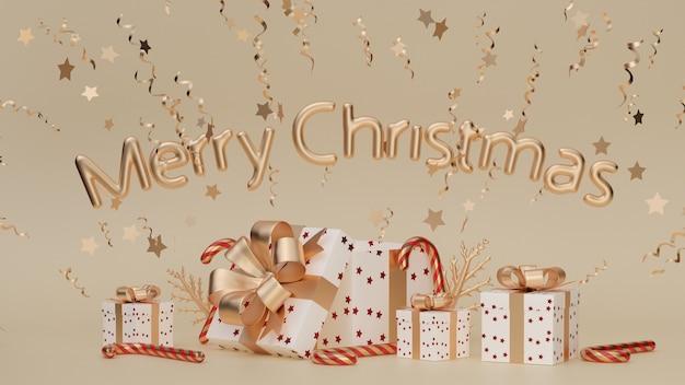실제 개체 휴일 요소와 메리 크리스마스와 새 해 복 많이 받으세요 크리스마스 축제 배경