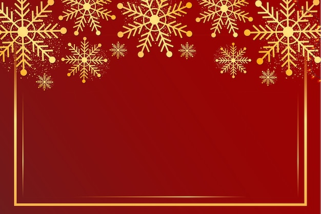 Merry christmas background with snowflake frame