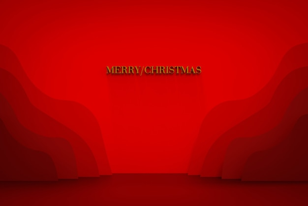 Merry christmas banner for shops and social media in paper cut style paper layered