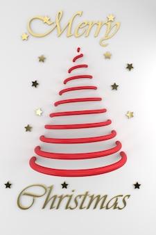 크리스마스 트리와 황금 별 메리 크리스마스 구성