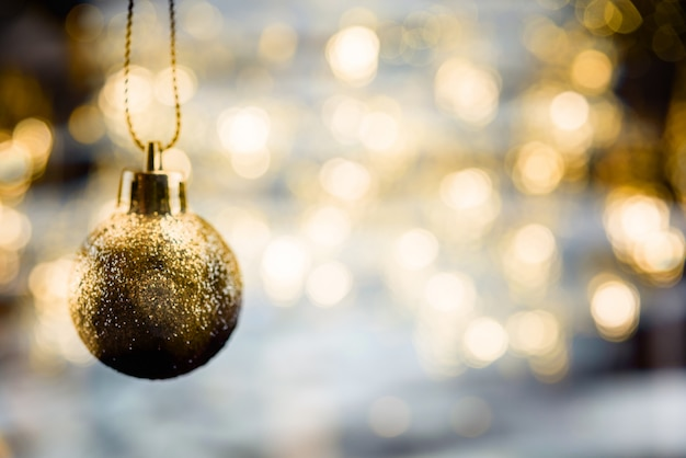 Merry christmas concept with hanging ball ornaments