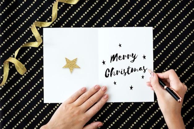 Buon natale e felice anno nuovo family holiday festival concept