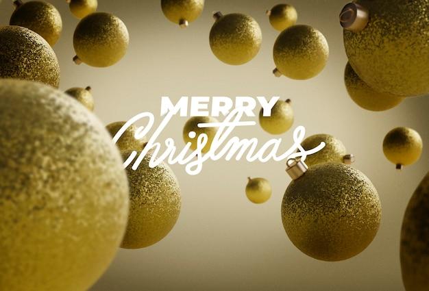 お祝いの背景にメリークリスマスのレタリング