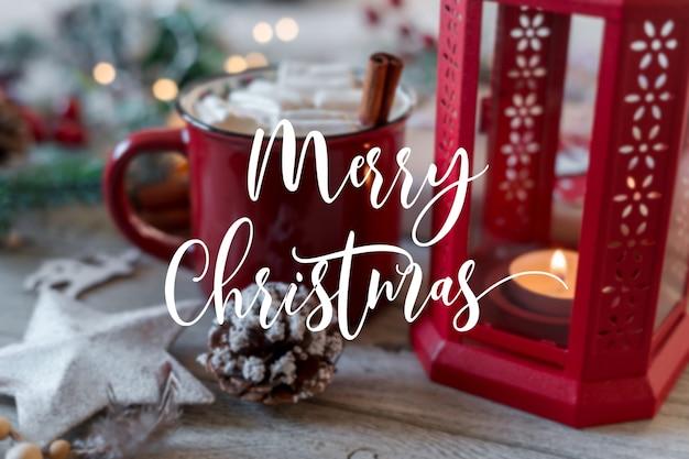 С рождеством христовым текст с зимним горячим напитком
