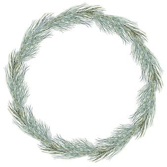 メリークリスマスリース組成冬ラウンドフレーム