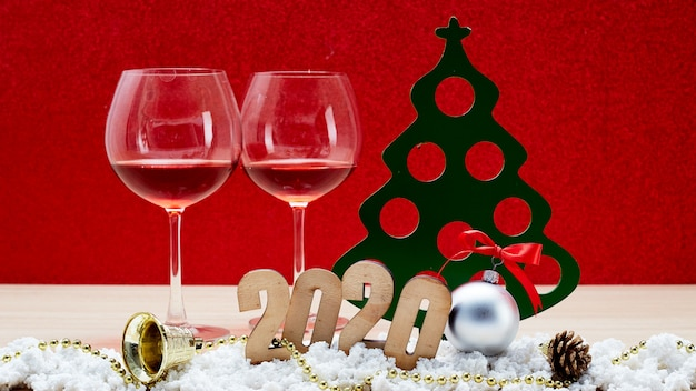 Merry new year 2020 decoration background