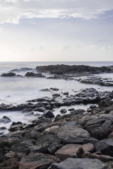 メサデルマール火山海岸線、タコロンテ、テネリフェ島、カナリア諸島、スペイン