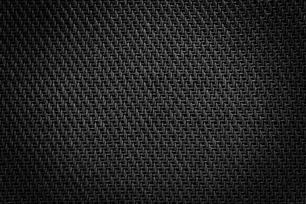 Mesh cloth speaker black fabric detail of the amplifier.