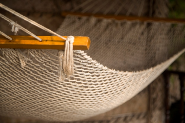 Mesh hammock in agonda, goa, india
