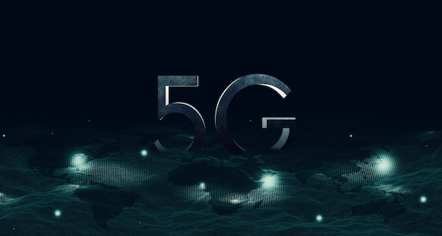 Mesh structure on the map digital network communication 5g and the internet 5g wireless network system (internet of things)