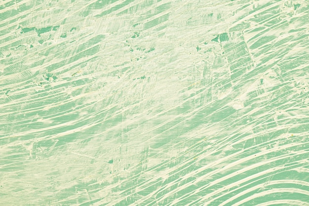 Messy green painted wall