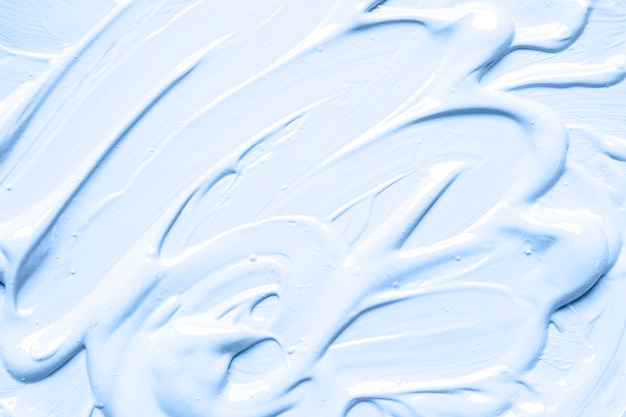 Messy strokes of blue paint
