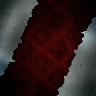 Grunge стиль фона трещины металла с классическим дизайном шаблона