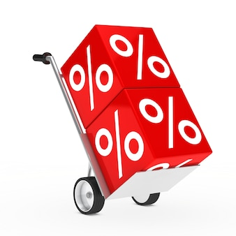Metal cart with two red cubes