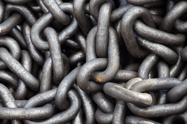Metal chain heap texture