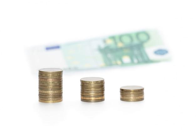 金属コインと紙幣が分離されました。