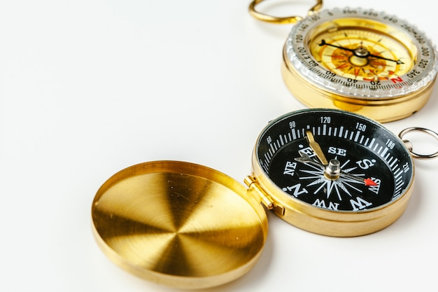 Metal compass isolated