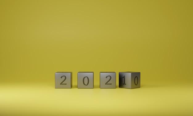 Металлический куб переворачивает изменение новый год