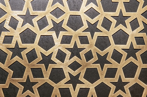 Metal decorative pattern on the wall