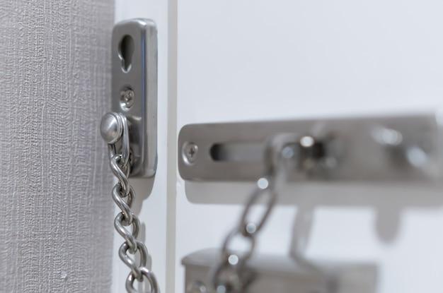 호텔 방의 금속 도어 체인 잠금 장치, 해외 여행시 안전 보안 보호
