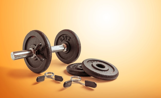 Metal dumbbell set