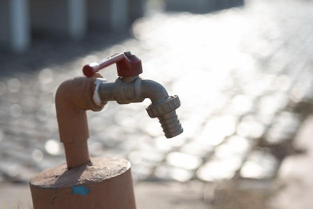 Metal faucet outdoor