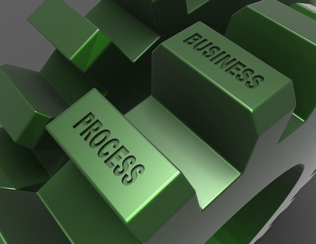 Металлические шестерни на черном фоне. бизнес-процесс . 3d визуализированная иллюстрация