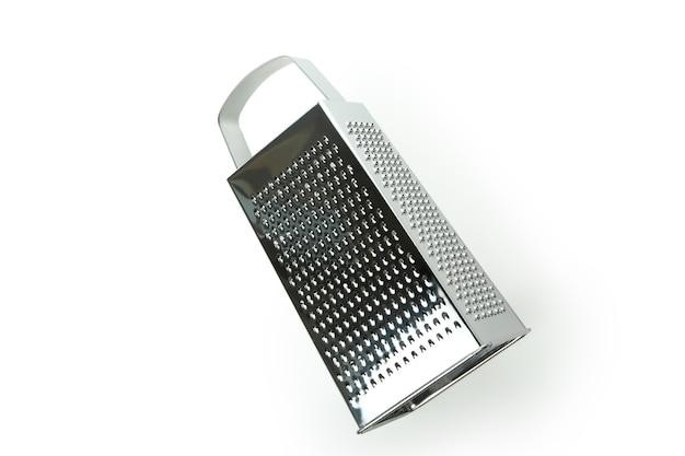 흰색 배경에 고립 된 금속 강판